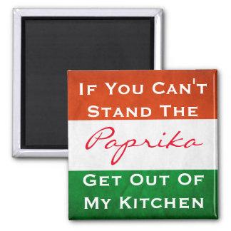 Hungarian Paprika w/Flag Square Magnet