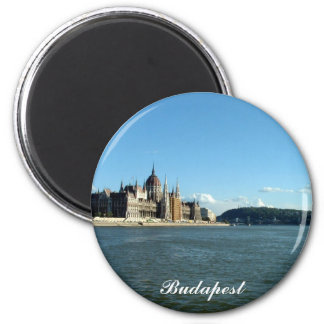 Hungarian Parliament and the Danube 2 Inch Round Magnet