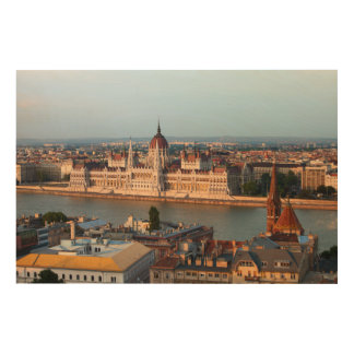 Hungarian Parliament at Sunset in Budapest Wood Canvases
