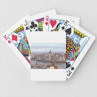 Hungarian Parliament Budapest by day Bicycle Playing Cards