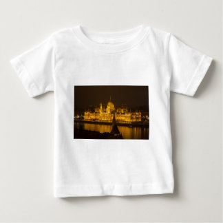 Hungarian Parliament Budapest by night Baby T-Shirt
