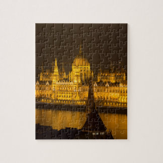 Hungarian Parliament Budapest by night Jigsaw Puzzle