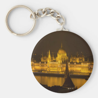 Hungarian Parliament Budapest by night Keychain
