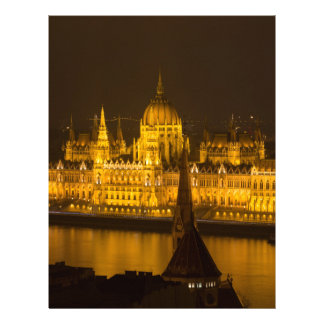 Hungarian Parliament Budapest by night Letterhead