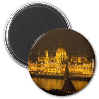 Hungarian Parliament Budapest by night Magnet