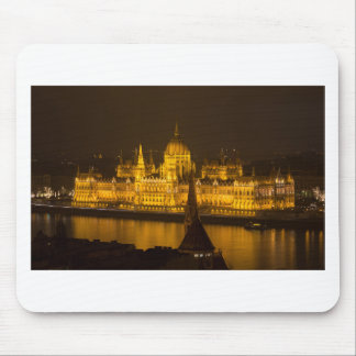 Hungarian Parliament Budapest by night Mouse Pad