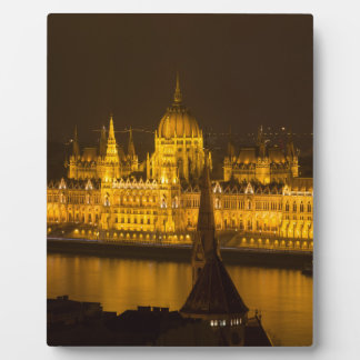 Hungarian Parliament Budapest by night Plaque