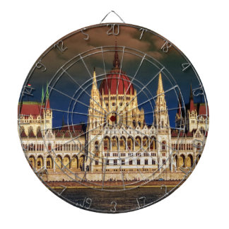 Hungarian Parliament Building in Budapest, Hungary Dartboard