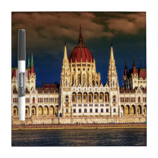 Hungarian Parliament Building in Budapest, Hungary Dry Erase Board