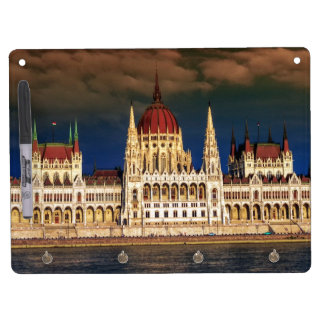 Hungarian Parliament Building in Budapest, Hungary Dry Erase Board With Keychain Holder