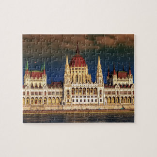 Hungarian Parliament Building in Budapest, Hungary Jigsaw Puzzle