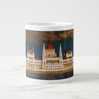 Hungarian Parliament Building in Budapest, Hungary Large Coffee Mug