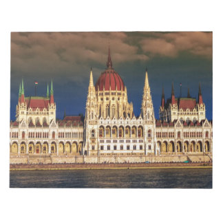 Hungarian Parliament Building in Budapest, Hungary Notepad