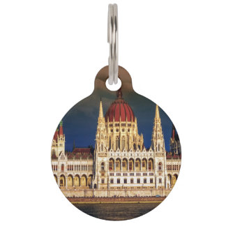 Hungarian Parliament Building in Budapest, Hungary Pet ID Tag