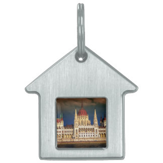 Hungarian Parliament Building in Budapest, Hungary Pet Tag