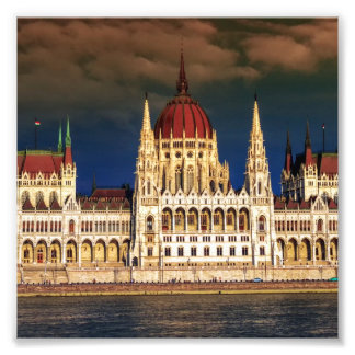 Hungarian Parliament Building in Budapest, Hungary Photo Art