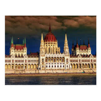 Hungarian Parliament Building in Budapest, Hungary Postcard