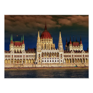 Hungarian Parliament Building in Budapest, Hungary Poster