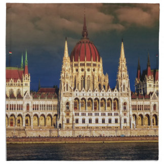 Hungarian Parliament Building in Budapest, Hungary Printed Napkin