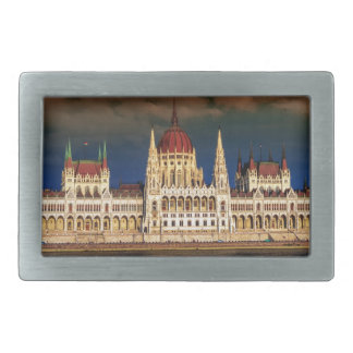 Hungarian Parliament Building in Budapest, Hungary Rectangular Belt Buckle