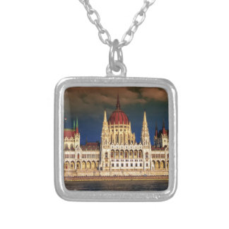 Hungarian Parliament Building in Budapest, Hungary Silver Plated Necklace
