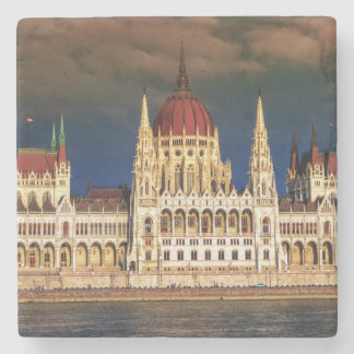 Hungarian Parliament Building in Budapest, Hungary Stone Coaster