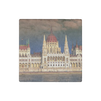 Hungarian Parliament Building in Budapest, Hungary Stone Magnets