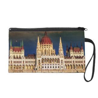Hungarian Parliament Building in Budapest, Hungary Wristlet