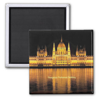 Hungarian Parliament Building Square Magnet