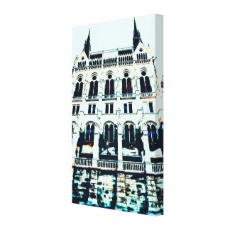 Hungarian Parliament painting Canvas Print