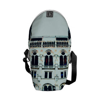 Hungarian Parliament painting Courier Bag