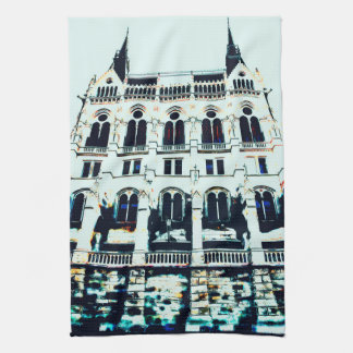 Hungarian Parliament painting Hand Towels