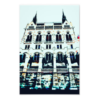 Hungarian Parliament painting Photo Print
