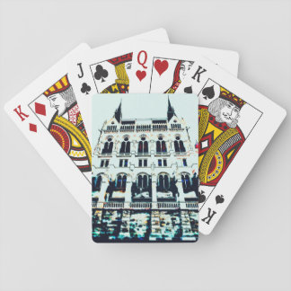 Hungarian Parliament painting Playing Cards
