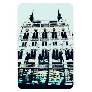 Hungarian Parliament painting Rectangular Photo Magnet