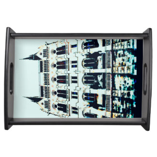 Hungarian Parliament painting Serving Tray