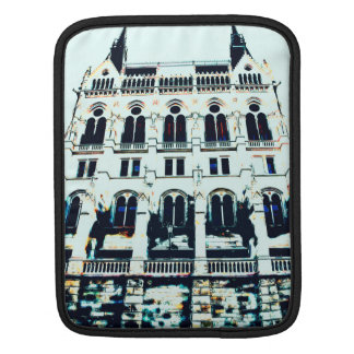 Hungarian Parliament painting Sleeve For iPads