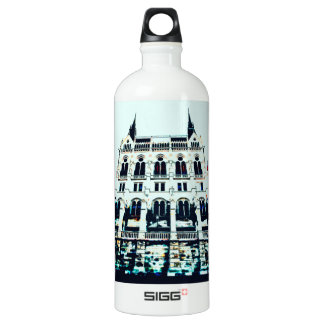 Hungarian Parliament painting Water Bottle