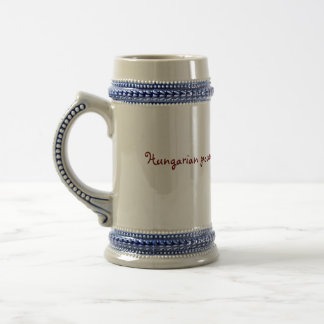hungarian power beer stein