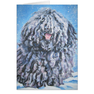 hungarian puli Christmas card