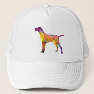 Hungarian Shorthaired Pointer in watercolor Trucker Hat