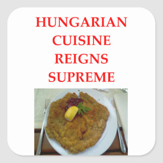 HUNGARIAN SQUARE STICKER