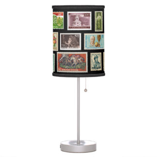 Hungarian Stamps Office Table Lamp