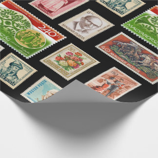 Hungarian Stamps Wrapping Paper