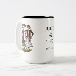 Hungarian Wedding Couple Two-Tone Coffee Mug