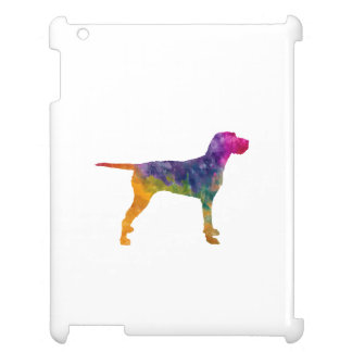 Hungarian Wirehaired Vizsla in watercolor iPad Cases
