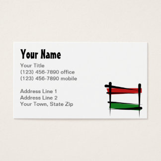 Hungary Brush Flag Business Card