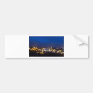 Hungary Budapest at night panorama Bumper Sticker