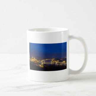 Hungary Budapest at night panorama Coffee Mug