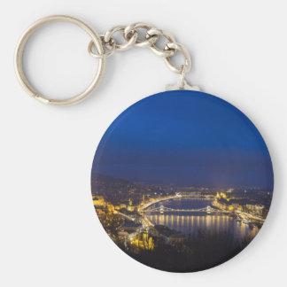 Hungary Budapest at night panorama Keychain